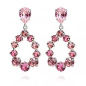 DELIA EARRINGS-LIGHT ROSE / ROSE