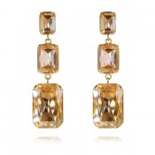 CAROLINE SVEDBOM - ALEXA LONG EARRING / GOLDEN SHADOW+LIGHT PEACH