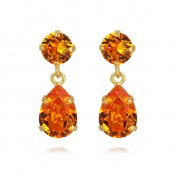 mini drop earring tangerine