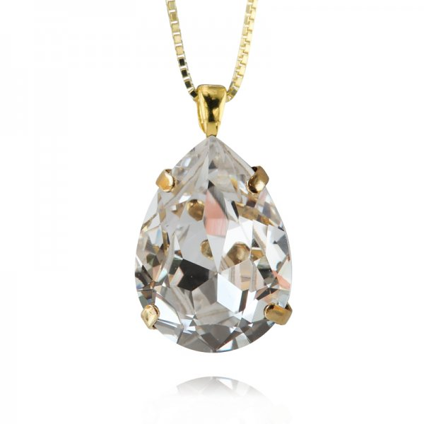 CAROLINE SVEDBOM - CLASSIC DROP NECKLACE / CRYSTAL