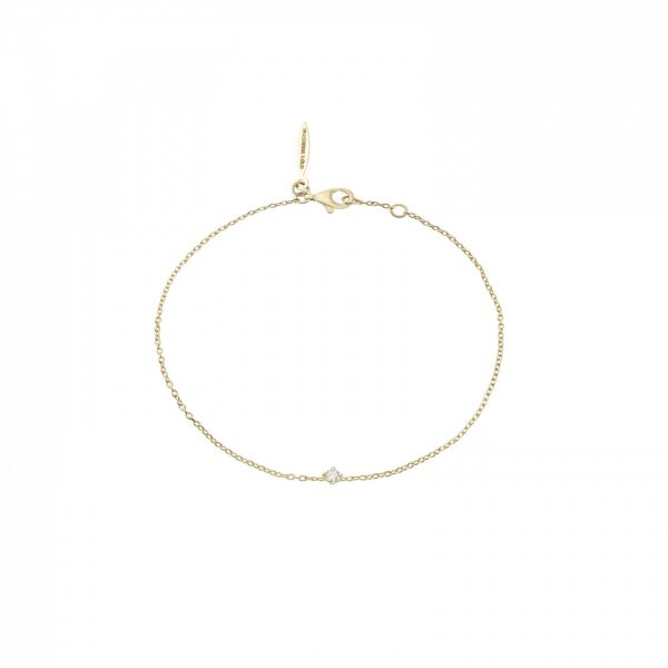 Diamond Sky drop bracelet gold