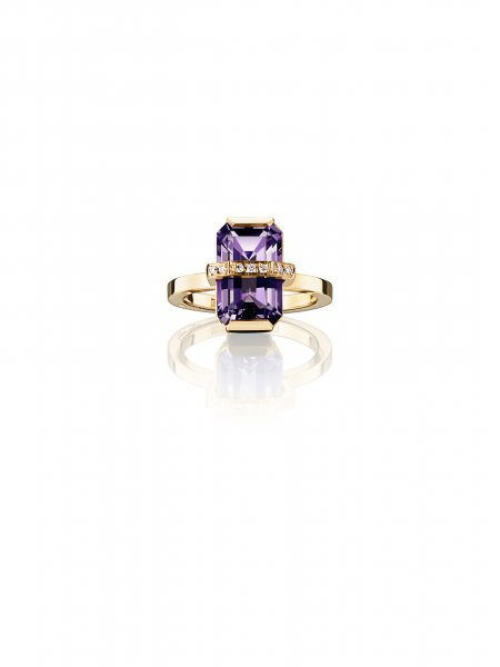 EFVA ATTLING - Little Bend Over Ring - Amethyst