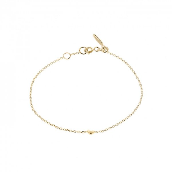LOVING HEART DROP BRACELET GOLD