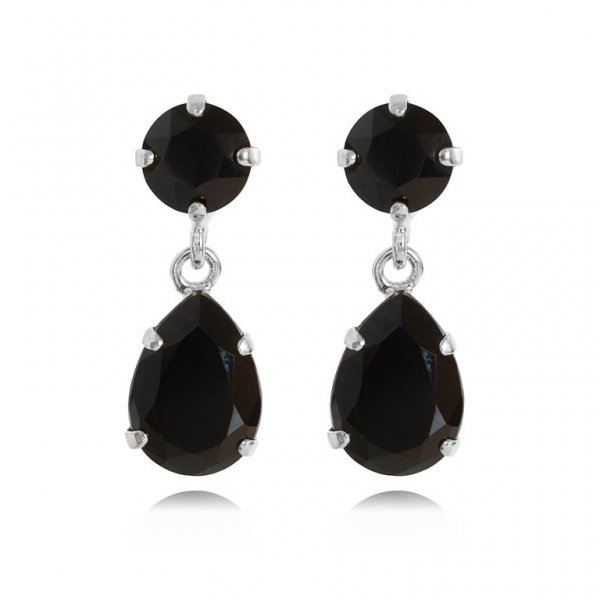 CAROLINE SVEDBOM - MINI DROP EARRINGS / JET